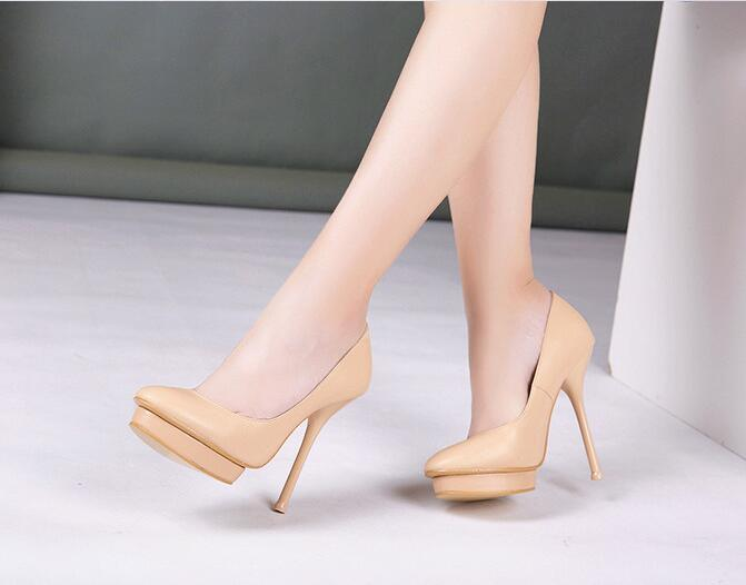 e2fe2e0db22e Xgravity Hot Sale New Lady Autumn Super High Heel Platform Shoes Cow ...