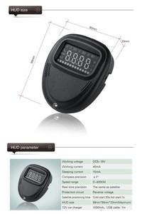 Image 3 - A1 GPS Universal Car Head Up Display HUD Speedometer Windshield Projectorr Speed Alarm Display Kilometers Security Alarm