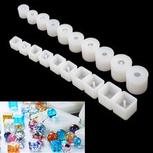 10/20Pcs Silicone UV Resin DIY Round Square Beads Mold Jewelry Making Casting
