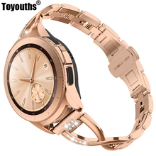 Women Rhinestone Strap For Samsung Galaxy Watch 42mm Replacement Smart Watch Bands for Samsung Watch Galaxy Active 20mm
