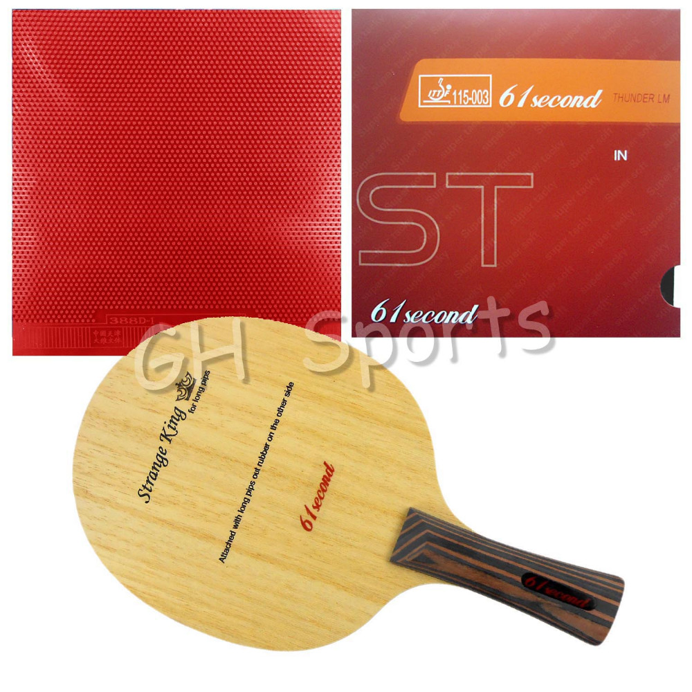 Pro Table Tennis PingPong Combo Racket 61second Strange King with LM ST and Dawei 388D-1 with a free Cover Long shakehand FL pro table tennis pingpong combo racket palio energy 03 with dhs tinarc 3 and 61second ds lst long shakehand fl