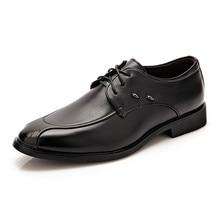 Мужская мода шнуровкой лакированная кожа дышащий оксфорд обувь на плоской подошве с бизнес платье Формальный обувь черный/коричневый мужские обувь