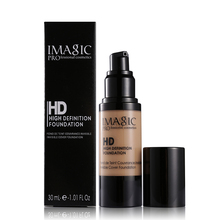 IMAGIC HD 6 cores 30 ml Brilhante Líquido Fundação Maquiagem Rosto base de maquiagem fond de teint creme hidratante cuidados com a pele cheia tamanho