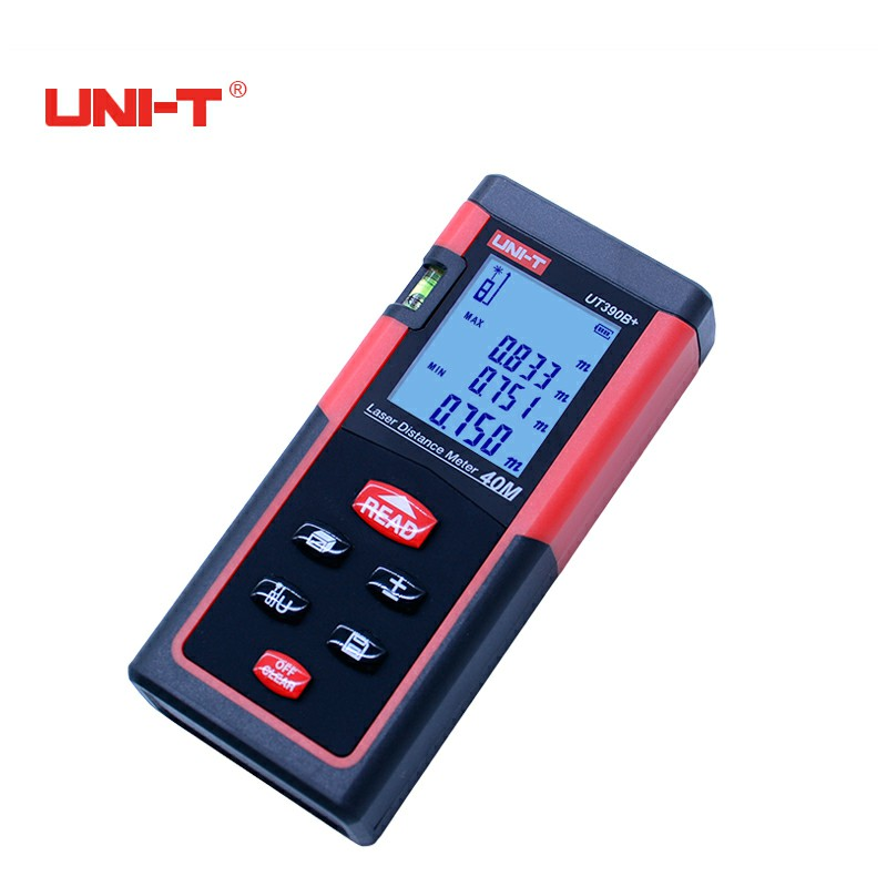 UNI-T UT390B+ Digital Laser Distance Meter Bubble Level Rangefinder Range Finder Tape Measure Area/Volume Laser Tape Measure digital laser distance meter bigger bubble level tool rangefinder range finder tape measure 100m area volume angle tester