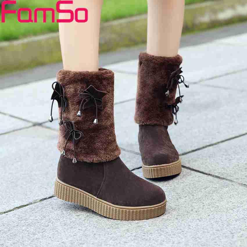 Plus Size 34 43 2016 New Arrival font b Women s b font Boots Black brown
