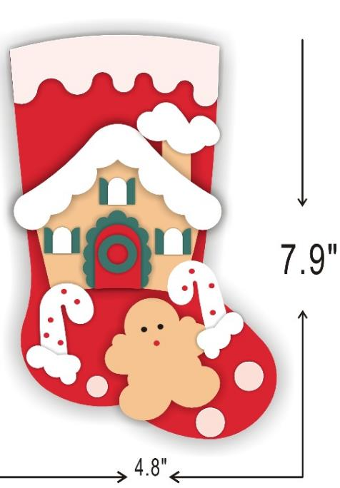 Christmas stocking cutting dies 2019 new die cut wooden dies Suitable for common die cutting machines on the market in Cutting Dies from Home Garden