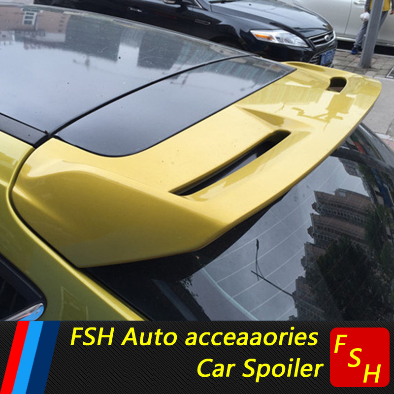 For Ford Focus Spoiler High Quality ABS Material Car Rear Wing unpaint Color Rear Spoiler For Ford Focus Hatchback Spoiler 2012+