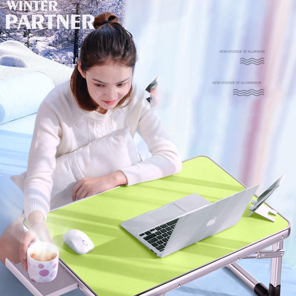 Outdoor Folding Computer Desk Laptop Desk 60*40cm   Adjustable Folding Laptop Notebook PC Desk Table Stand Portable Bed Tray