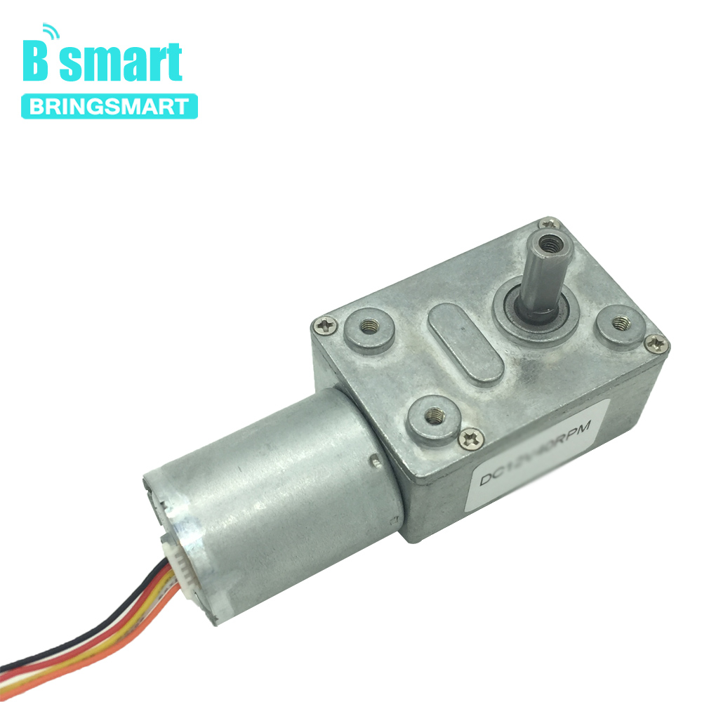 Bringsmart Reducer Gearbox Motor JGY-2430 12volt DC Worm Brushless Gear Motor Self-locking Reversible Geared Motor 6-150rpmBringsmart Reducer Gearbox Motor JGY-2430 12volt DC Worm Brushless Gear Motor Self-locking Reversible Geared Motor 6-150rpm