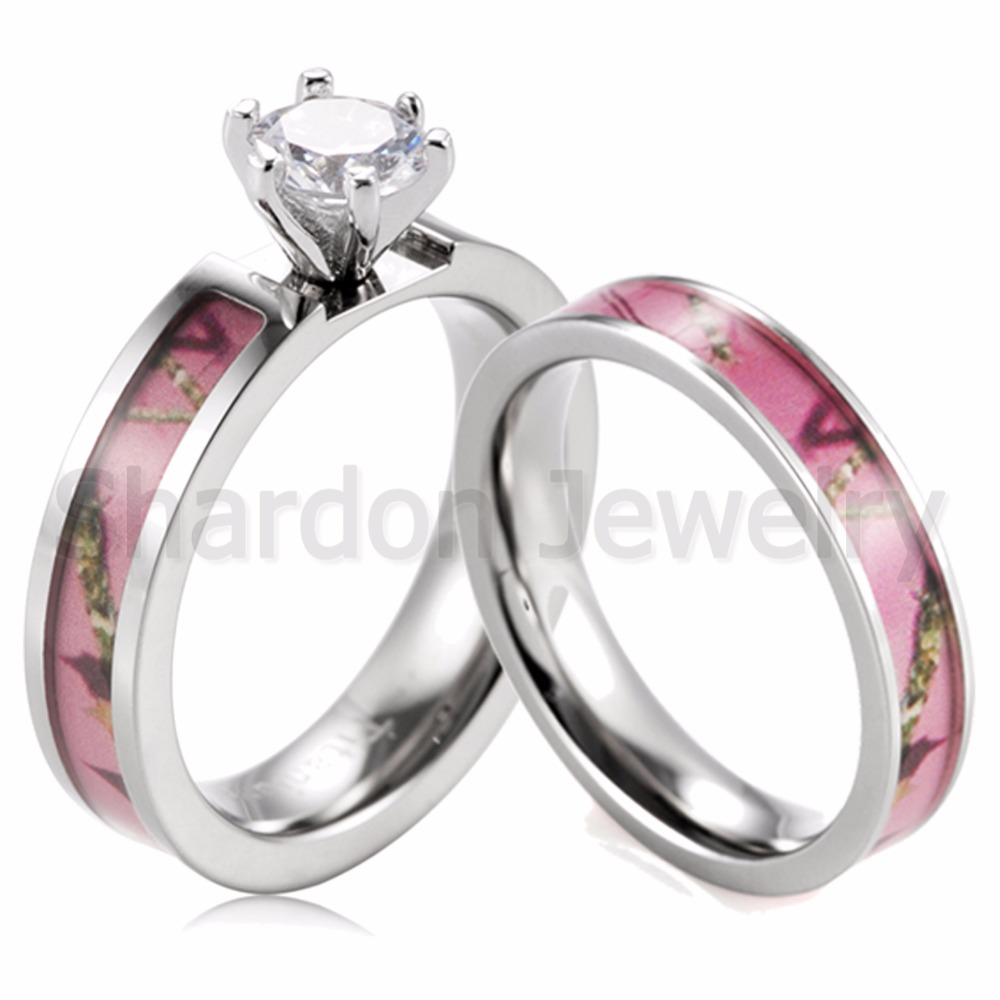 pink camo wedding rings black ceramic band by 1 camo pink camo wedding rings product image