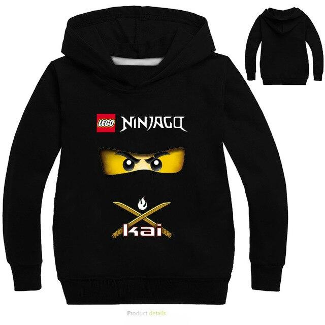 d8d88f48 Boys Outwear Ninja Ninjago Girls Hoodies Cartoon Costumes Clothes Long  Sleeved T shirts Children's Sweatshirts Kids Tops Tees