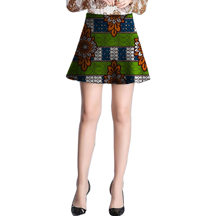 Women African outfits retro patterns Miniskirt element African wax print short dashiki skirts for patty/wedding