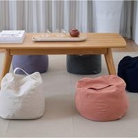 Plain Color Round Tatami Cushion Round Chair Floor Seat Mat EPS Filler Bay Window Home Decoration Cushion