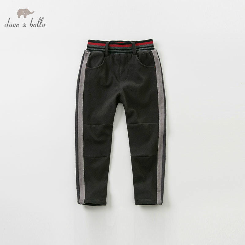 DBK9078 dave bella 5Y 13Y spring kids boys casual boutique pants children fashion trousers