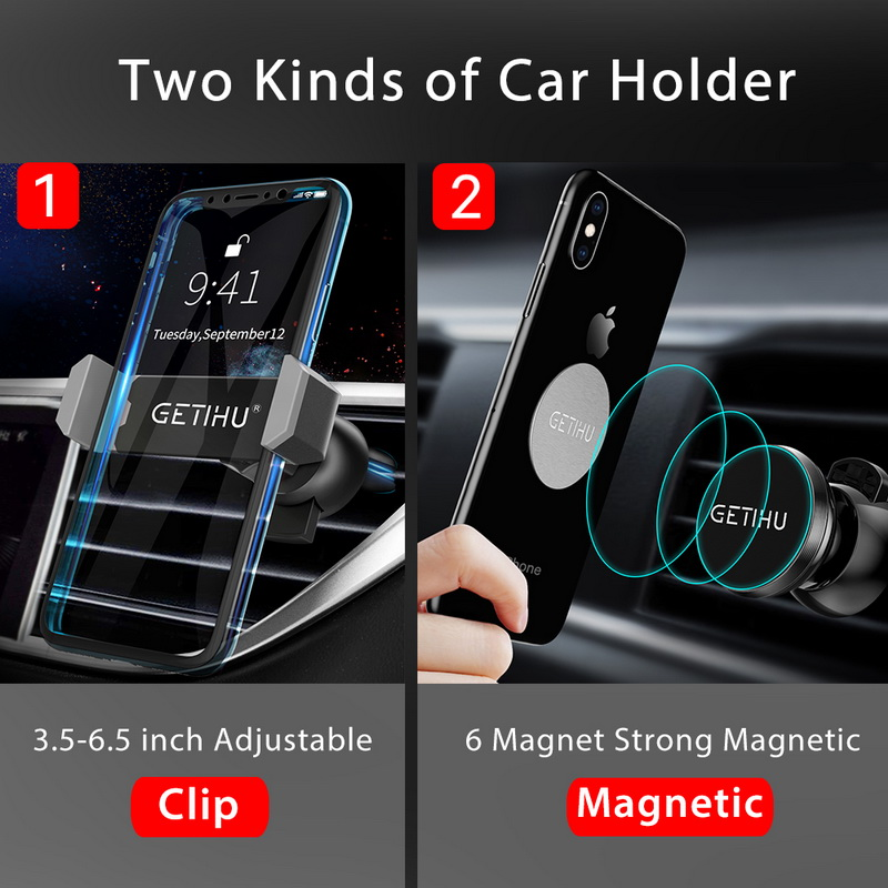 HTB16WMuXjLuK1Rjy0Fhq6xpdFXaq - GETIHU Car Phone Holder For iPhone X XS Max 8 7 6 Samsung 360 Degree Support Mobile Air Vent Mount Car Holder Phone Stand in Car