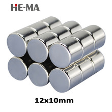 10pcs 12 x 10mm N35 Mini Powerful Magnet Rare Earth Permanent Small Round Strong Neodymium Magents