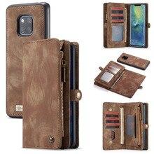 Voor Coque Huawei P30 Lite Case Luxe Zipper Wallet Folio Magnetische Cover Genuine Leather Case Voor Huawei P20 Lite P30 pro P20