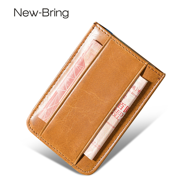 Aliexpress buy newbring high quality genuine leather credit newbring high quality genuine leather credit card id holders business card wallet case bag wallet reheart Gallery