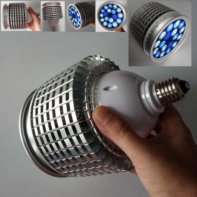 Светодиодный аквариумный светильник высокой мощности, рифовая лампа 10 синих 6 белых 2uv для рыб, коралловых рифов, морских рыбок, SPS LPS, 50 Вт