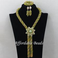 Nice Nigerian Traditional Beads Luxury Fashion Beads Jewelry Set Handmade Style Wholesale ABC073