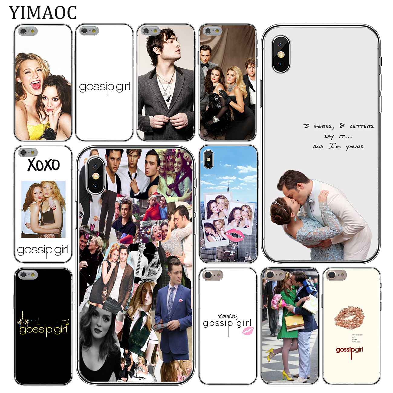 YIMAOC Gossip <font><b>Girl</b></font> Soft Silicone <font><b>Cover</b></font> Case <font><b>for</b></font> Apple <font><b>iPhone</b></font> 11 Pro X XR XS Max <font><b>6</b></font> 6S 7 8 Plus 5 5S SE 10 TPU Phone Cases image