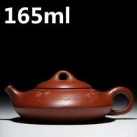 ZiSha Teapots Yixing Clay Pots 165ml Ceramic Teapot Kung Fu Tea Set Chinese Purple Sand Tea Pot Handmade Zhu Ni Tea Pots Kettle