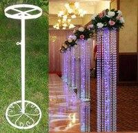 Mariage perles rideau cadre conducteur Routier/décoration de mariage, 10 pcs/lot, plomb cadre, support, support, fleur de soutien rack
