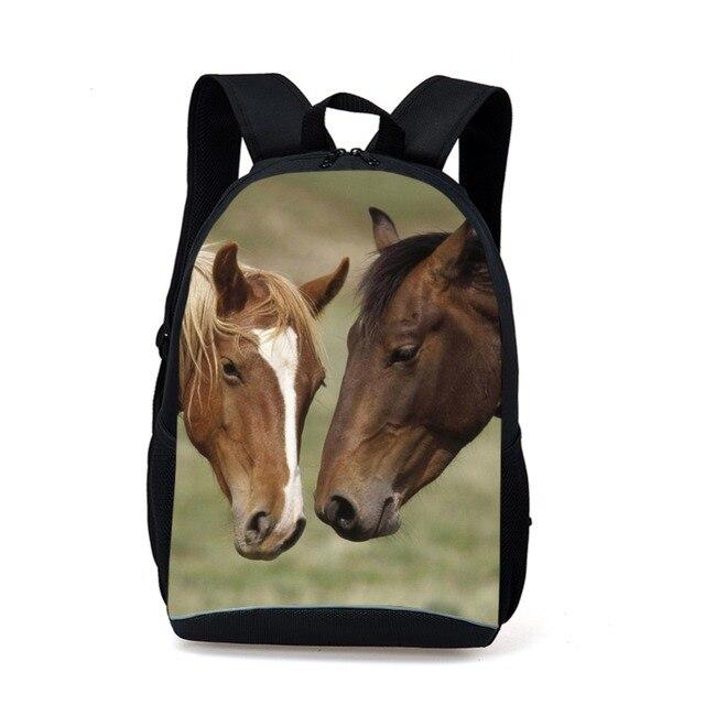 aa8a45b12c9a6 Neue Ankunft 3d-druck Tier Pferd Kinder Schule Rucksack Männer Wochenende  aktivitäten Schultertasche Schultaschen Für
