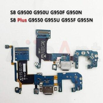 Original USB Charger Port Connector Dock Charging Flex Cable For Samsung Galaxy S8 G950U G950F s8 Plus + G950N G955U G955F G955N смартфон samsung galaxy s8 sm g950f 64gb жёлтый топаз
