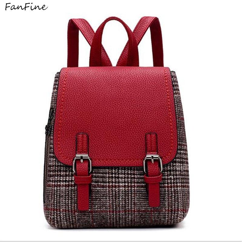 FanFine preppy style backpack Striped Women bag Teenage backpacks Teen Girls Bag pack Youth Female Mochila Feminina