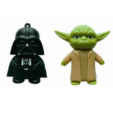 3D YODA Star Wars Darth Vader Mini Usb 128GB 32GB 64GB Rubber USB Flash 2.0 Memory Stick Pen Drive 2TB 1TB Pendrive Gift Key