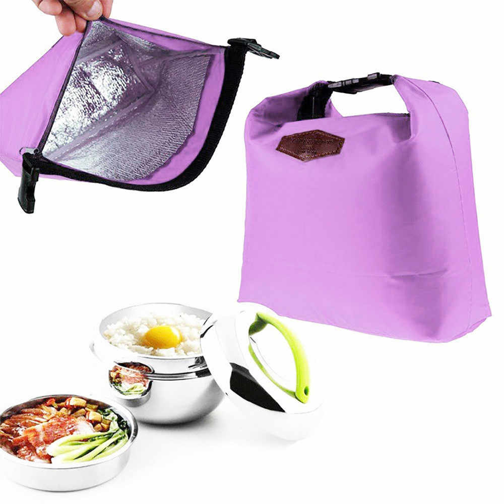 ISHOWTIENDA 1 pc Caixa de Almoço Saco Do Refrigerador Do Almoço Porta Feixe Bolsa Da Senhora Pacote Almoço Sacos de Isolamento Das Crianças Das Crianças Para As Mulheres homens