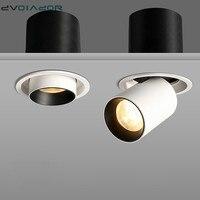 Растягивающийся встраиваемый светильник 12 Вт 10 Вт 7 Вт углубленный светодиод 360 градусов регулируемые точечные светодиодные лампы для дома,...