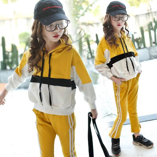 Girl Clothing Set 2018 Spring Autumn Kids Long Sleeve Sport Suits for Girls 6 8 12 Year Children Clothes 2 Pieces Tracksuits