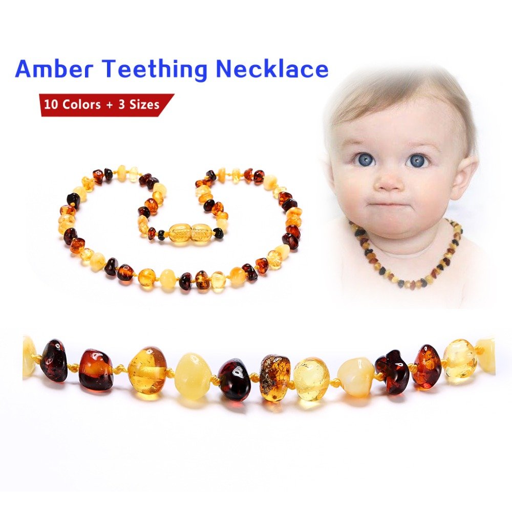 Amber Teething Necklace/Bracelet - No invoice, no price, no logo - 7 Sizes - 10 Colors - Ship from CN