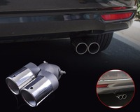 New Universal High Quality Stainless Steel Exhaust Tail Rear Muffler Tip Pipe For Chevrolet Cruze Ford