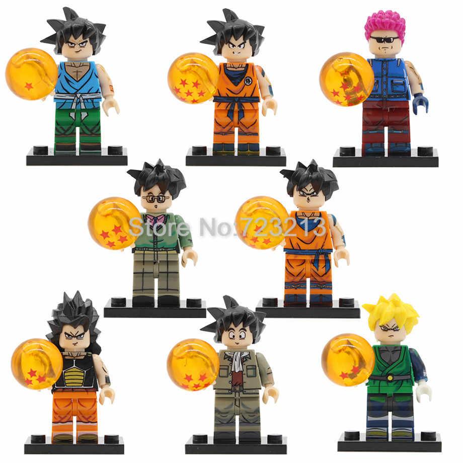 Hot Único Desenho Animado Dragon Ball Figura Raditz Arnold Son Goku Gohan Piccolo Android 17 Almoço Mai Mai Modelos de Bloco de Construção brinquedos