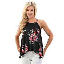2017 New Summer Women Tanks Knitted Floral Print Camis Loose Halter Neck Sexy Strapless Casual Women Tops Vest Camiseta Mujer