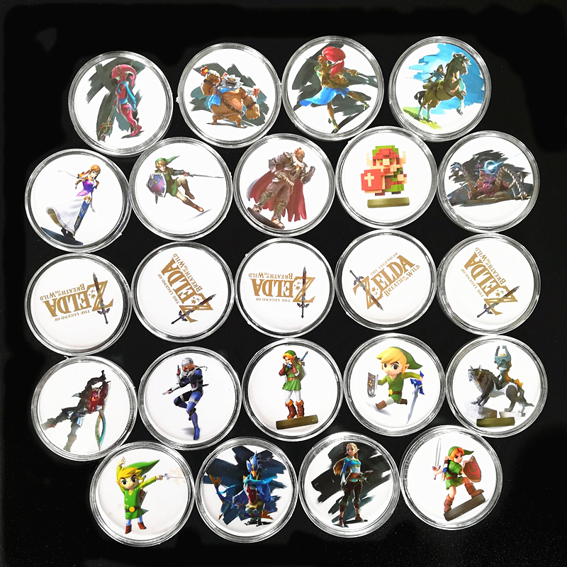 Fast Shipping New Data Full Set 23Pcs/lot NFC <font><b>Card</b></font> Of <font><b>Amiibo</b></font> The Legend of <font><b>Zelda</b></font> Breath of the Wild Collection Coin Tag Ntag215 image