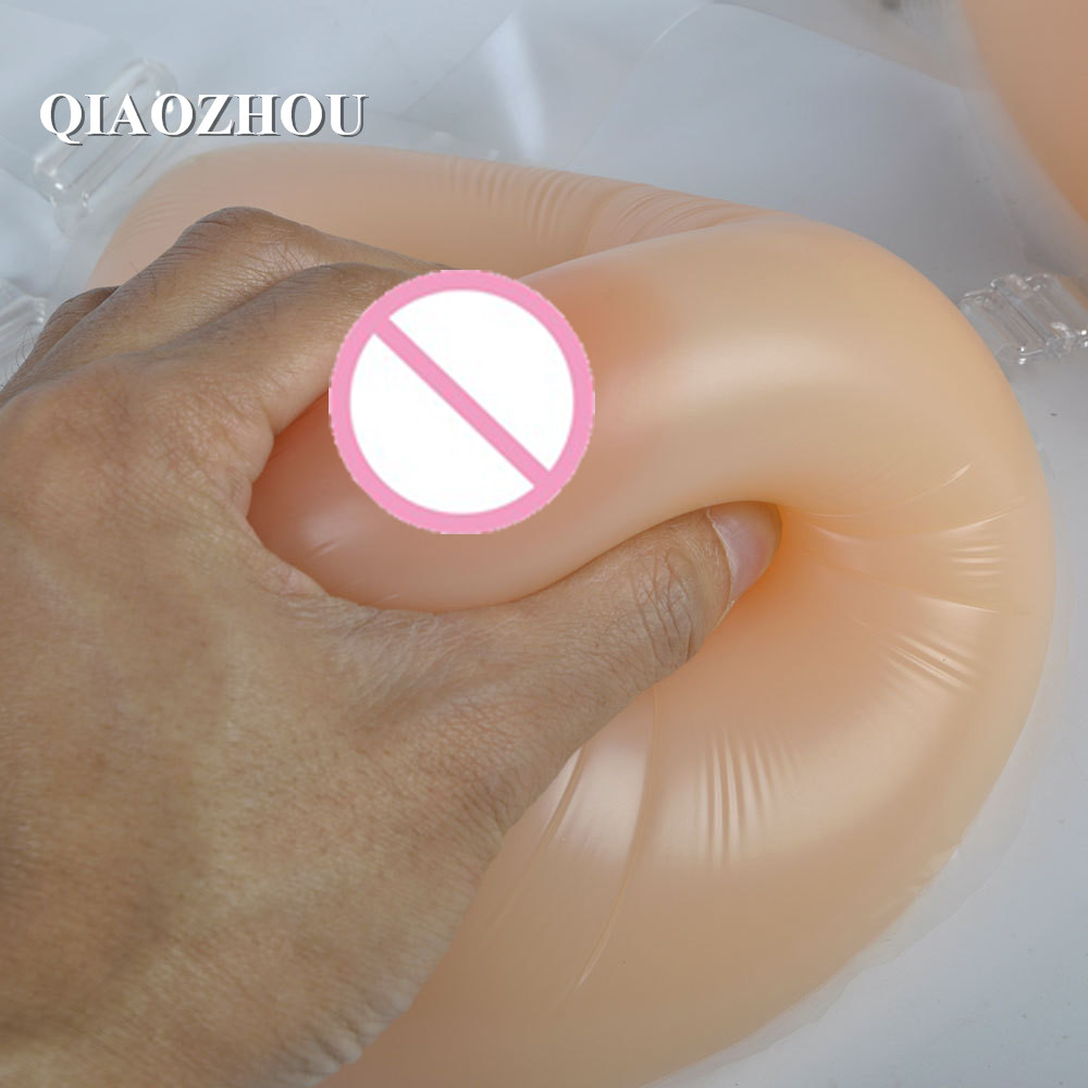 1800g New Women Breast Forms with straps Cosplay Prosthesis Transsexual Boobs Enhancers silicone fake breast urban forms
