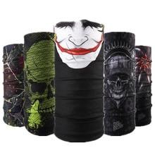 Серия шарфов с черепами, различные маски на половину лица, повязка на голову для Хэллоуина, бандана, головной убор для велосипеда, головной шарф для сноуборда, головной платок