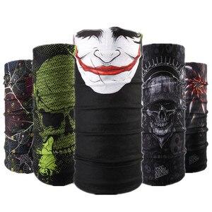 Serie de diseño de calavera bufanda variedad de tubo máscara de media cara Halloween diadema Bandana Headwear bicicleta cabeza bufanda Snowboard pañuelo de cabeza