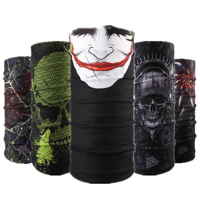 Skull Design Series Scarf Variety Tube Half Face Mask Halloween Headband Bandana Headwear Bicycle Head Scarf Snowboard Headscarf