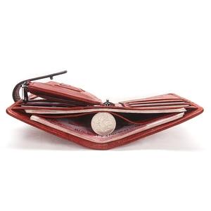 Image 5 - Contacts fashion cartera pequeña de piel auténtica con cremallera para mujer, mini monedero con diseño de cerrojo, tarjetero