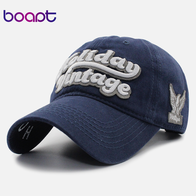 купить [boapt] letter embroidery cotton women hat snapback male caps for men casual hip hop hats summer retro unisex brand baseball cap дешево