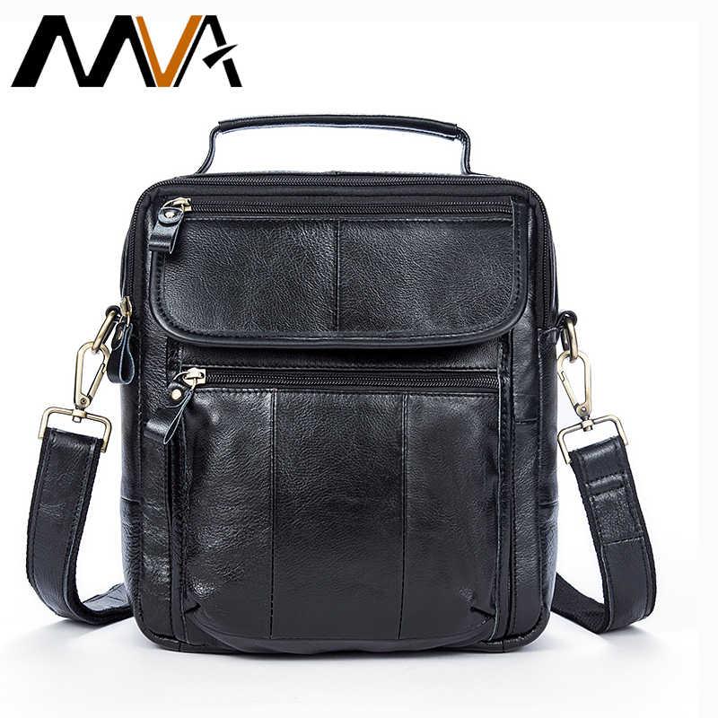 b8efdbff9ab4 MVA сумка Для мужчин мужская сумка из натуральной кожи Для мужчин сумки  Повседневное мужской Crossbody ручка