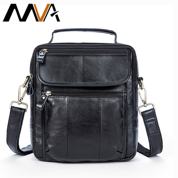 MVA メッセンジャーバッグ男性のショルダーバッグ本革メンズバッグカジュアル男性クロスボディハンドルトップのための男性スモールハンドバッグ