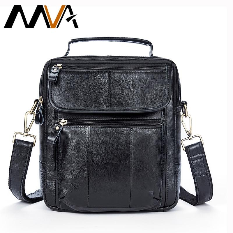 MVA Messenger Bag Men's Shoulder Bag Genuine Leather Men's Bags Casual Male Crossbody Handle-top Bags For Men Small Handbags