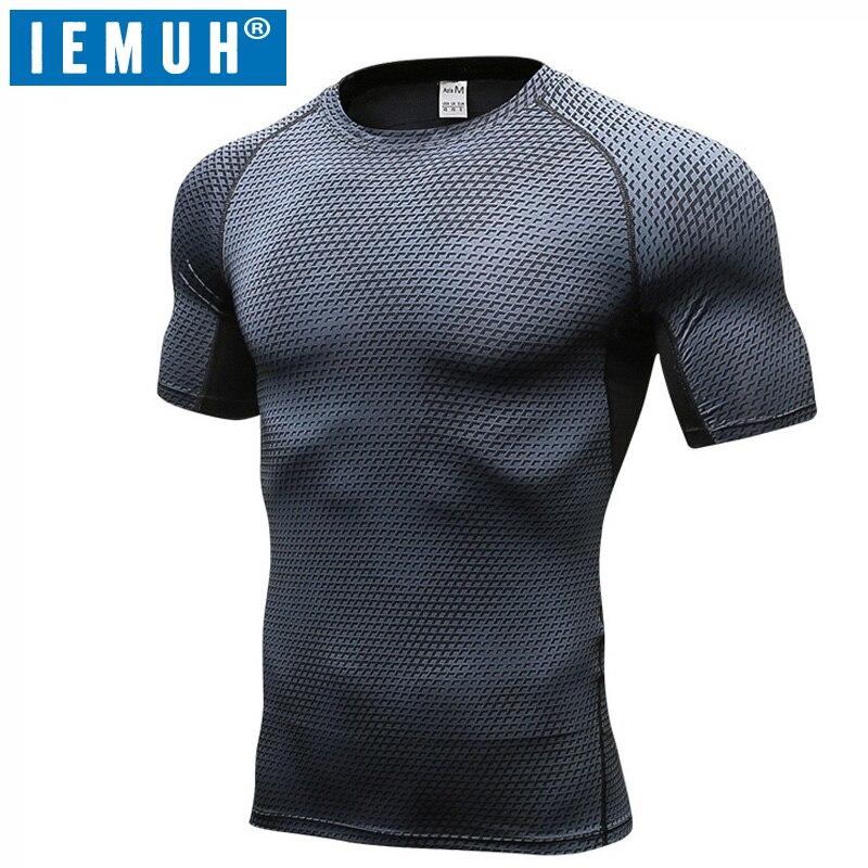 IEMUH marca verano hombres de secado rápido al aire libre camisetas de manga corta transpirable senderismo camiseta Coolmax hombres escalada deporte camisetas