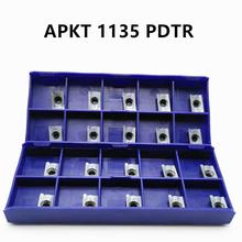 Slotted shoulder outer turning tool APKT1135PDTRLT30 Carbide insert CNC machining center precision semi-finishing milling insert custom finish machining high precision turning lathe cnc machining